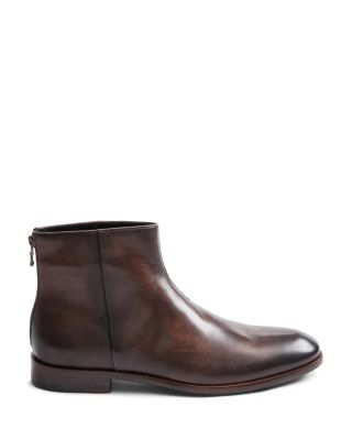 Men\u0027s NYC Back,Zip Leather Ankle Boots
