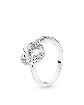 9408925be33 Pandora - Sterling Silver Knotted Heart Ring ...