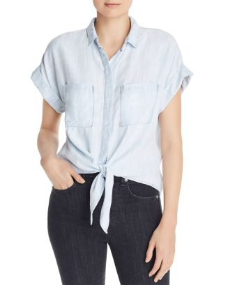 Tie Front Shirt   100 Percents Exclusive by Bella Dahl