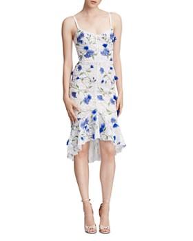 793c29af MARCHESA NOTTE - Embellished-Lace High-Low Dress ...