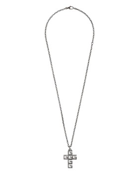 d15d0bac7 Gucci - Sterling Silver G Cube Cross Pendant Necklace, ...