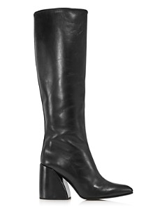 Chloé - Women's Wave Leather Block-Heel Boots
