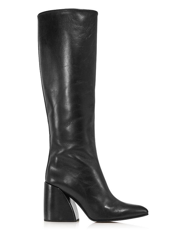 d4e5040f Women's Wave Leather Block-Heel Boots