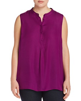 VINCE CAMUTO Plus - Textured Henley Tank