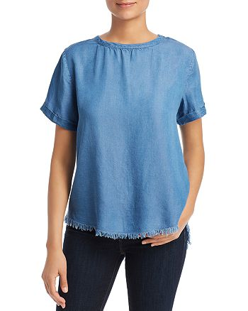 Alison Andrews - Chambray High/Low Top