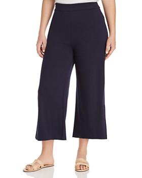 Lyssé Plus - Slit Wide-Leg Cropped Pants