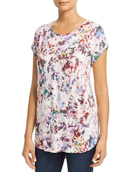 Cupio - Abstract Floral Print Top
