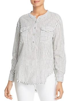 Elan - Ticking Striped Henley Top