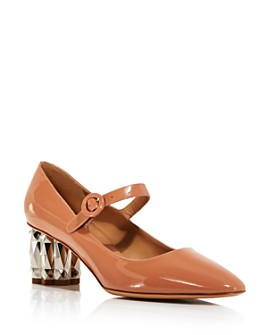 Salvatore Ferragamo - Women's Ortensia Geometric Block-Heel Pumps
