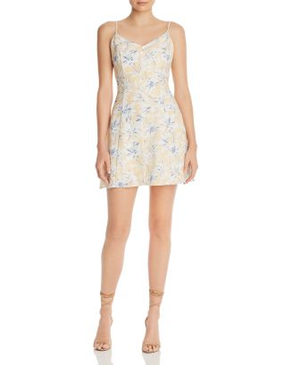 Luci Sleeveless Floral Print Mini Dress by Lost And Wander