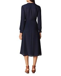 KAREN MILLEN - Pintuck Midi Shirt Dress