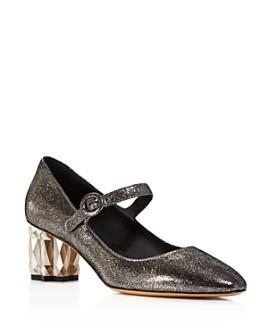 Salvatore Ferragamo - Women's Ortensia Geometric Block-Heel Pumps