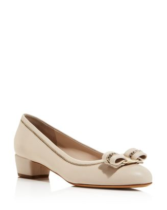 Women's Vara Low Heel Pumps by Salvatore Ferragamo