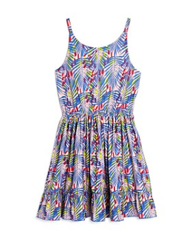 BCBGirls - Girls' Tropical Print Fit-and-Flare Dress - Big Kid