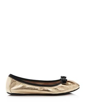 Salvatore Ferragamo - Women's My Joy Metallic Leather Ballet Flats - 100% Exclusive