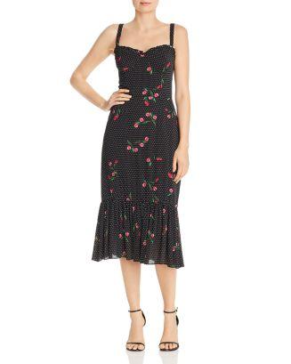 Eloise Polka Dot Bustier Midi Dress   100% Exclusive by Wayf