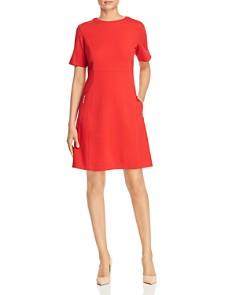 Misook - Fit-and-Flare Pocket Dress