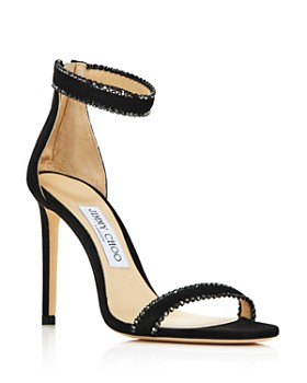 Jimmy Choo - Women's Dochas Crystal-Embellished Leather High-Heel Sandals