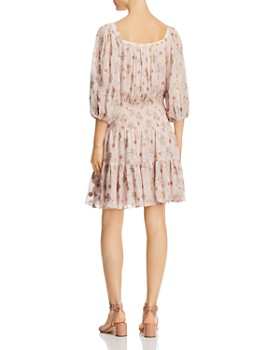 Rebecca Taylor - Leander Metallic Floral Dress