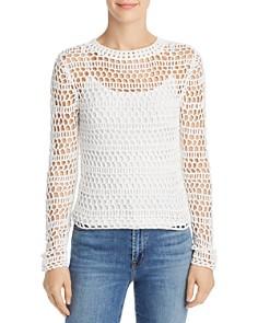 Theory - Open Crochet Sweater