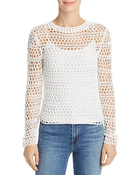 ad5315ebb3af Theory - Open Crochet Sweater ...