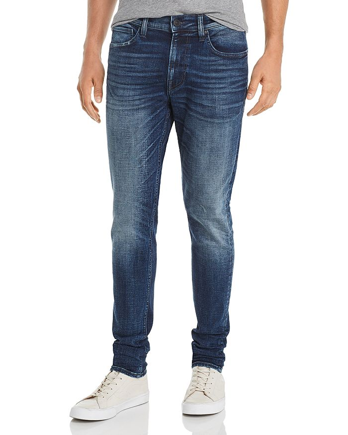 Hudson - Skinny Fit Zip Jeans in Media