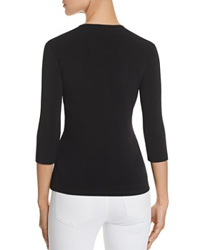 KARL LAGERFELD Paris - Ruffle V-Neck Top