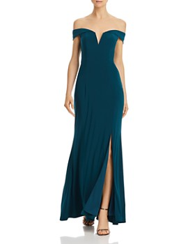 AQUA - Off-the-Shoulder Gown - 100% Exclusive