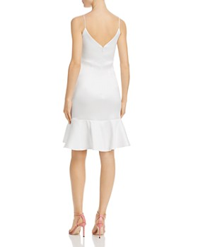 Avery G - Satin Bow-Detail Dress