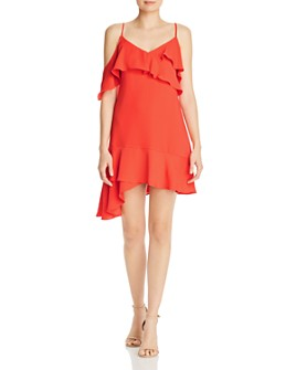 BCBGMAXAZRIA - Asymmetric Ruffled Dress