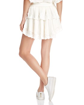 Generation Love - Pamela Embroidered Tiered Mini Skirt