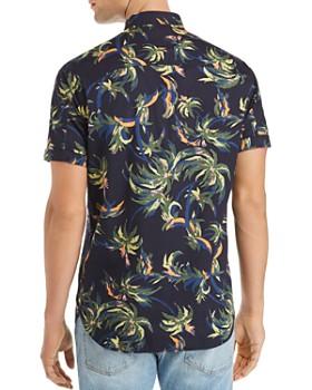 Scotch & Soda - Short-Sleeve Palm Tree-Print Regular Fit Shirt