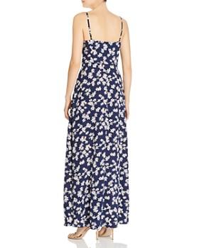 AQUA - Button-Front Floral Maxi Dress - 100% Exclusive