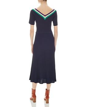 Sandro - Thié Short-Sleeve Knit Midi Dress