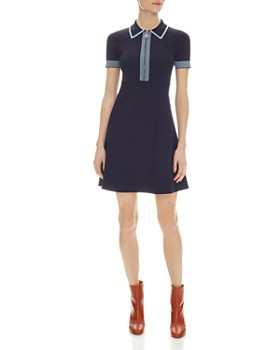 Sandro - Half-Zip Knit Dress