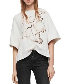 ALLSAINTS - Mila Linel Raw-Edge Graphic Sweatshirt