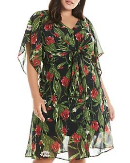 Estelle Plus - Tropical Getaway Floral Dress