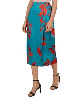 845a07dd1 Ted Baker - Lilyyy Fantasia-Print Wrap Skirt ...