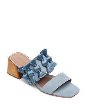 BERNARDO | Bernardo Women's Bella Tassel Block-Heel Sandals | Goxip