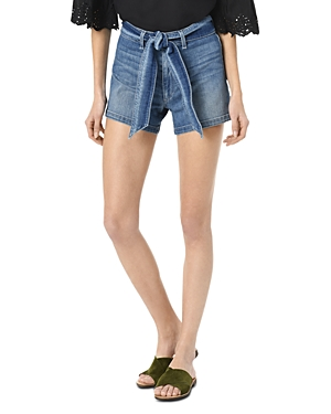 Joe's Jeans The High Rise Belted Denim Shorts in Allison