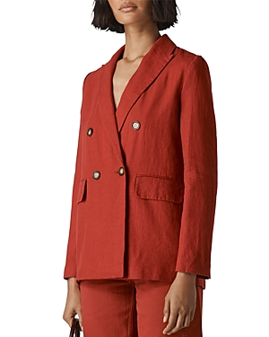 Whistles Linens DOUBLE-BREASTED BLAZER