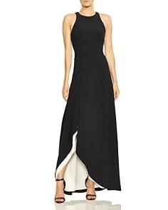 HALSTON HERITAGE - Color-Block Crepe Gown