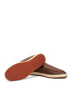 Aquatalia - Men's John Pebbled Leather Espadrille Slip-On Loafers