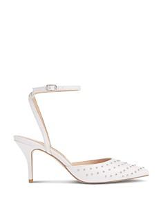 Charles David - Women's Azalea Studded Ankle Strap Pumps