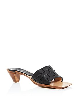 Bottega Veneta - Women's Woven Kitten-Heel Slide Sandals