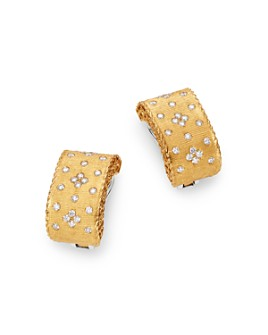 Roberto Coin - 18K Yellow Gold & 18K White Gold Princess Diamond Earrings