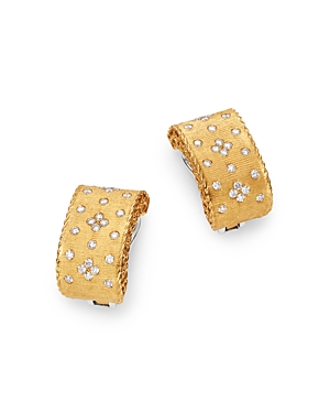 Roberto Coin 18K Yellow Gold & 18K White Gold Princess Diamond Earrings