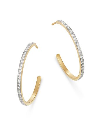 Bloomingdale's - Diamond Hoop Earrings in 14K Yellow Gold, 0.75 ct. t.w. - 100% Exclusive