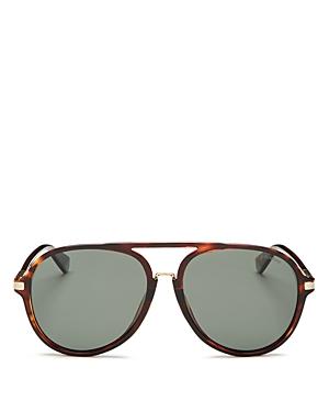 Polaroid Men\'s Polarized Brow Bar Aviator Sunglasses, 58mm