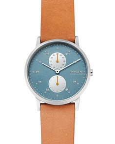 Skagen - Kristoffer Tan Leather Strap Watch, 42mm